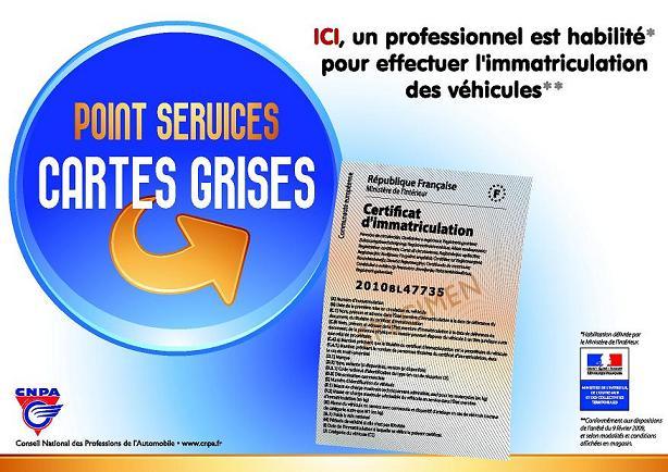 Service Carte Grise Particulier et Pro, changement d'adresse et cession de véhicule.